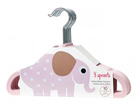 3 Sprouts Kinderkleiderbügel Elefant – 10er Set