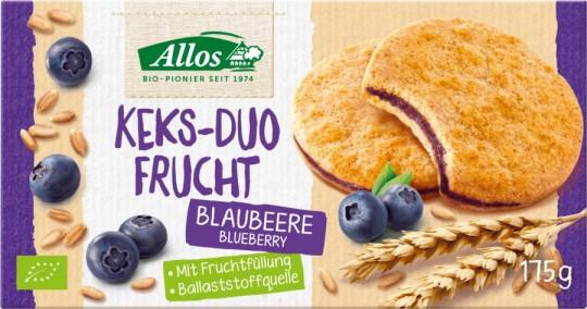 Allos Keks-Duo Frucht Blaubeere bio