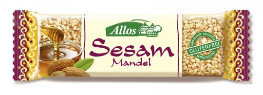 Allos Sesam-Mandel-Krokant-Riegel bio