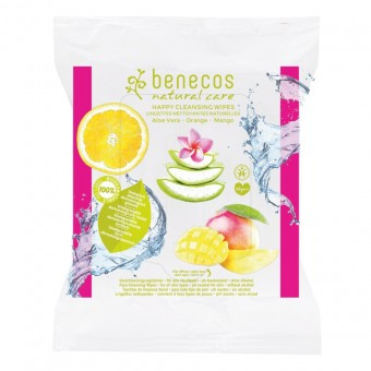 Benecos Happy Cleansing Wipes Aloe Vera Orange Mango