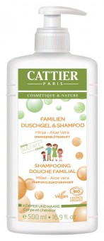 Cattier Familien Duschgel & Shampoo 500ml