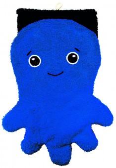 Fürnis Waschlappen groß Tintenfisch blau