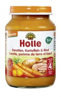 Holle Karotten, Kartoffeln & Rind bio
