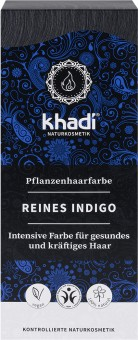 Khadi Haarfarbe Reines Indigo Kaltes-Schwarz