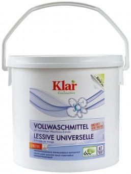 Klar Vollwaschmittel mit Waschnuss-Extrakt 4,4kg