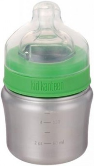 Klean Kanteen® Baby Bottle (langsamer Trinkfluss) Brushed Stainless 148ml