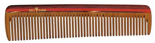 Kost Kamm Frisierkamm Holz bunt 18 cm, grob (9b)