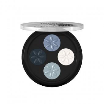 Lavera Mineral Eyeshadow Quattro 07 Blue Platinum