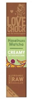 Lovechock Creamy Haselnuss Matcha bio