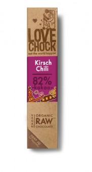 Lovechock Zartbitterschokolade Kirsch & Chili bio