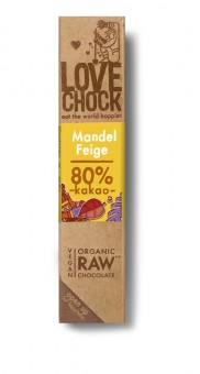 Lovechock Zartbitterschokolade Mandel & Feige bio