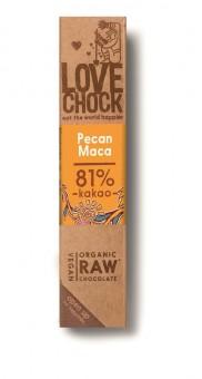 Lovechock Zartbitterschokolade Pecan & Maca bio