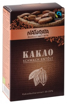 Naturata Kakao, schwach entölt 20-22 % bio
