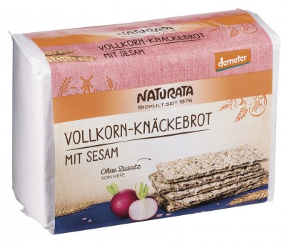 Naturata Vollkorn-Knäckebrot mit Sesam bio