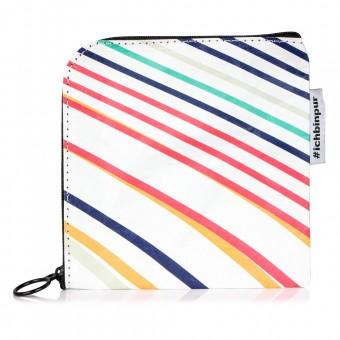 PureSeife Seifentasche mit Reißverschluss (Linien bunt)