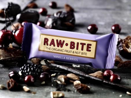 RAW bite Vanilla Berry Riegel bio