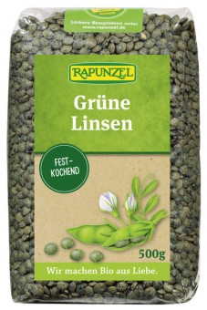Rapunzel Linsen grün bio