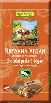 Rapunzel Nirwana vegane Schokolade mit Praliné-Füllung HIH bio