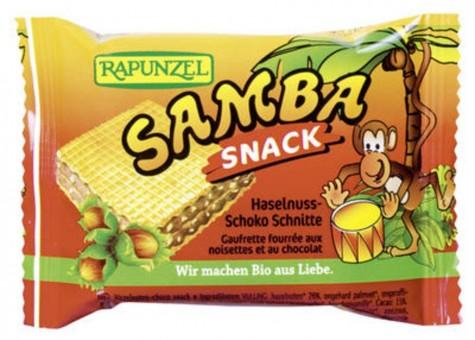 Rapunzel Samba Snack, Haselnuss-Schoko Schnitte bio