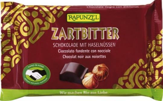 Rapunzel Zartbitter Schokolade 60% mit ganzen Nüssen HIH bio