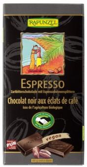 Rapunzel Zartbitter Schokolade mit Espresso-Splittern 51% H bio