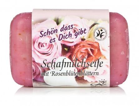 Saling Schafmilchseife Rosenblüten Schön dass es Dich gibt