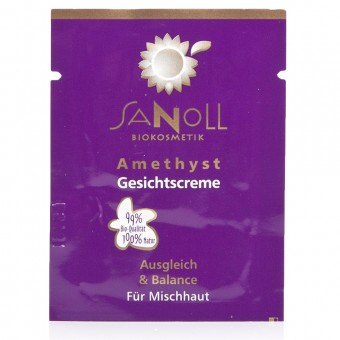 Sanoll Amethyst Gesichtscreme Probe