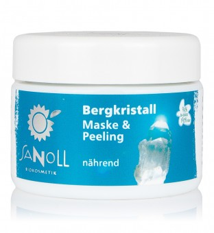 Sanoll Bergkristall Maske & Peeling nährend