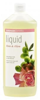 Sodasan Rose-Olive Seife flüssig 1L