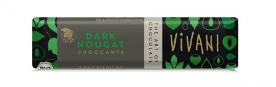 Vivani Dark Nougat Croccante Riegel bio