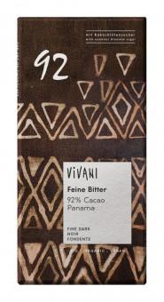 Vivani Feine Bitter 92 % Cacao bio