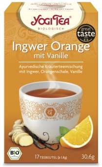 Yogi Tea Ingwer Orange m. Vanille bio