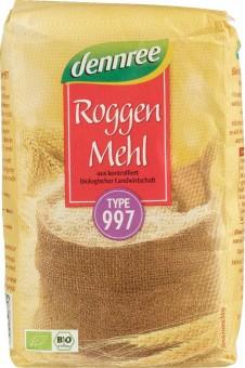 dennree Roggenmehl Type 997 bio 1kg