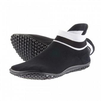 leguano sneaker schwarz, weißer Bund