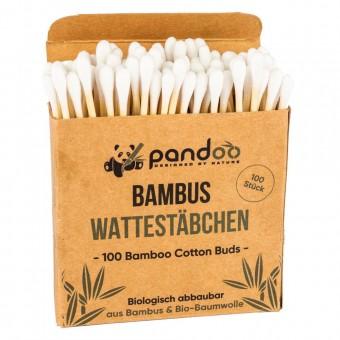pandoo Bambus Wattestäbchen natur (100St)