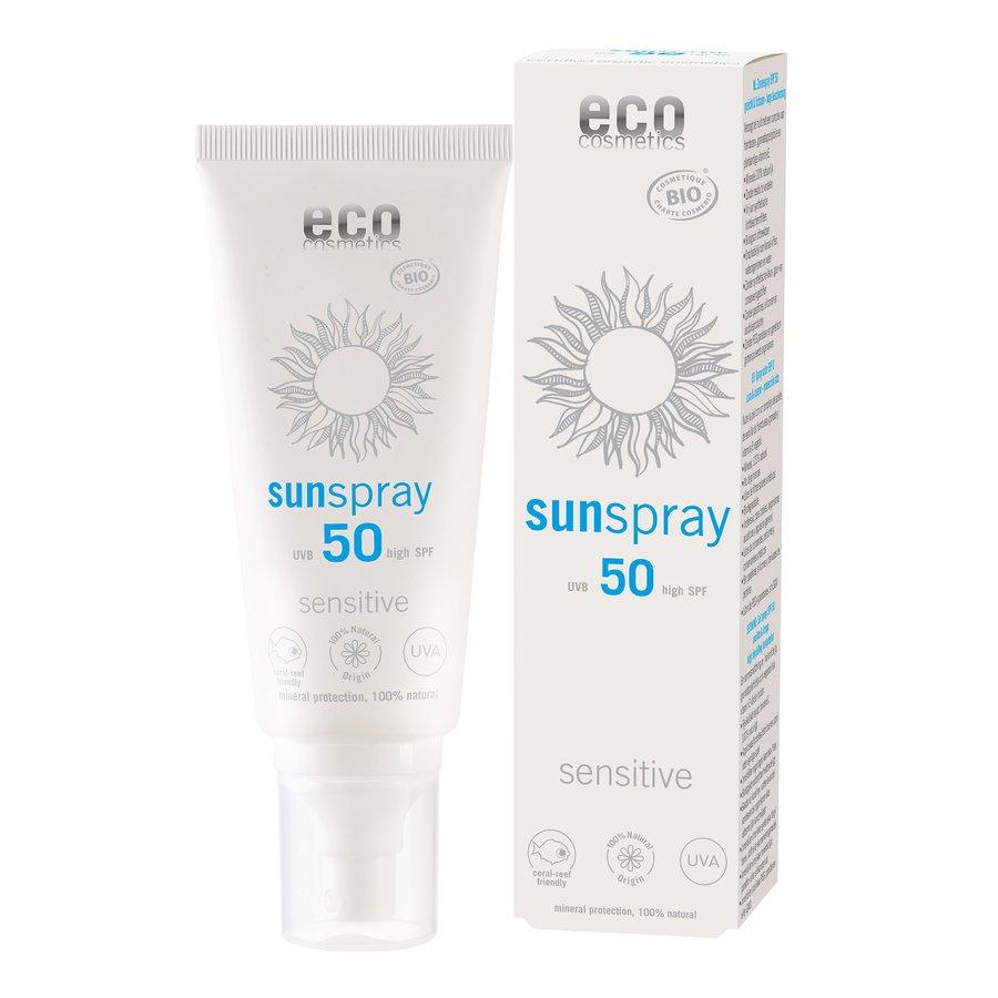 eco cosmetics sonnenspray lsf50 sensitive shop. Black Bedroom Furniture Sets. Home Design Ideas