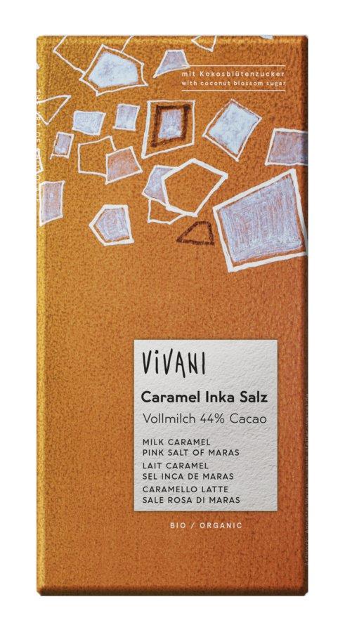 vivani caramel inka salz schokolade mit kokosbl tenzucker bio shop. Black Bedroom Furniture Sets. Home Design Ideas