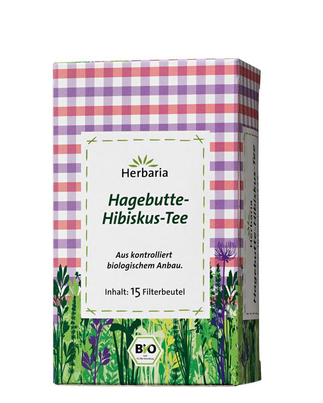 Herbaria Hagebutten-Hibiskus-Tee bio